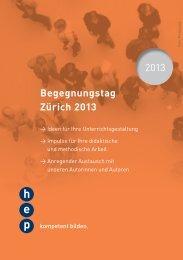 Flyer Begegnungstage - h.e.p. verlag ag, Bern