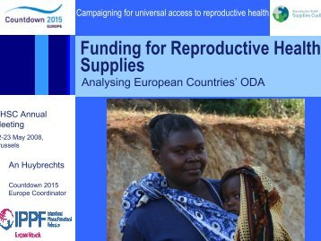 Analyzing European Countries' ODA - Reproductive Health Supplies ...