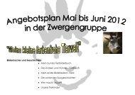 Angebotsplan der Zwergengruppe Mai bis Juni ... - AWO Ruhr-Mitte