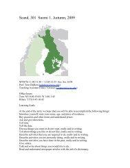 Intensive Elementary Finnish - Department of Scandinavian Studies