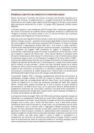 premessa e obiettivi del progetto di territorio snodo - Urban Center ...