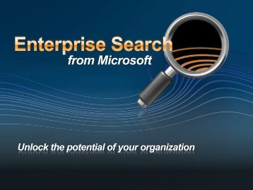 Microsoft Search Server 2008 - Whats new - TechNet Blogs