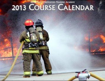 2013 COURSE CALENDAR