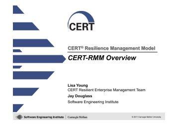 CERT-RMM Overview - CMMI Made Practical