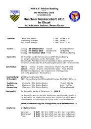 Ausschreibung Münchner Meisterschaft Einzel 2011