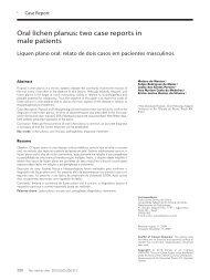 Oral lichen planus: two case reports in male patients - SciELO