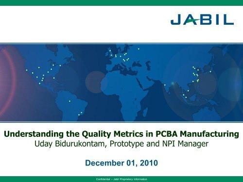 PCBA Mfg Quality Metrics - SMTA