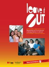Developing anti-homophobic bullying practice in ... - Save the Children