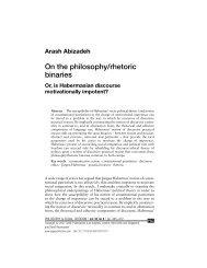 Arash Abizadeh On the philosophy/rhetoric binaries Or, is ...