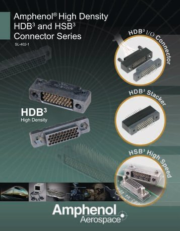 Amphenol® High Density HDB3 and HSB3 Connector Series