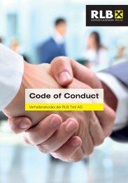 Broschüre Code of Conduct - Raiffeisen Landesbank Tirol