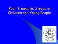 Post Traumatic Stress in Children and Young People