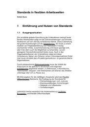 Standards in flexiblen Arbeitswelten 1 Einführung und Nutzen von ...