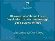 Gli eventi nascita nel Lazio: flussi informativi e monitoraggio della ...