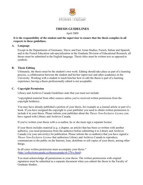 uofc thesis guidelines