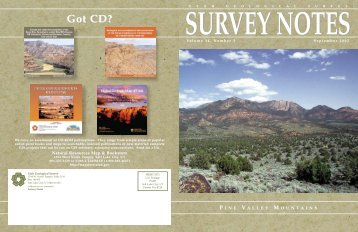 Got CD? - Utah Geological Survey - Utah.gov