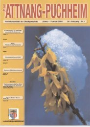Ausgabe Jänner-Februar 2006 - Attnang-Puchheim