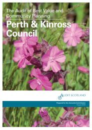Perth & Kinross Council: the audit of Best Value and ... - Audit Scotland