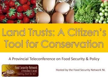Land Trusts In Newfoundland - The Food Security Network of ...