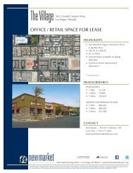 OFFICE / RETAIL SPACE FOR LEASE - NewMarket Advisors