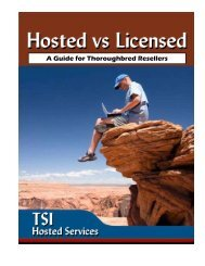 Hosted vs. Licensed Guide - Thoroughbred Software International