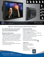 "NEC 52"" LCD Interactive Multi-Touch Monitor - Tech Global"