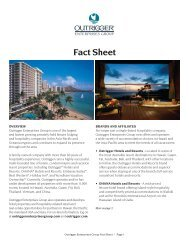 Fact Sheet - Outrigger News - Outrigger Hotels and Resorts