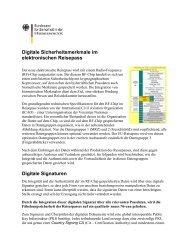 Digitale Sicherheitsmerkmale im elektronischen Reisepass - kes