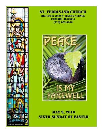 st. ferdinand church may 9, 2010 sixth sunday of easter - Parafia św ...