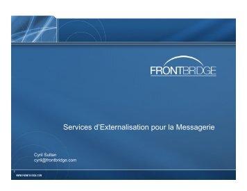Services d'Externalisation pour la Messagerie - OSSIR