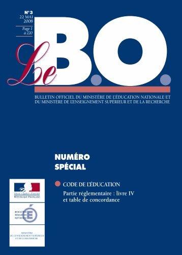 NUMÉRO SPÉCIAL - Ministère de l'Éducation nationale