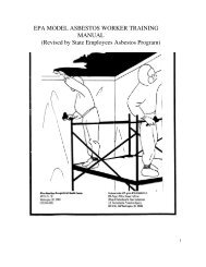 EPA MODEL ASBESTOS WORKER TRAINING MANUAL (Revised ...