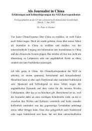 Als Journalist in China - Erfahrungen und Schlussfolgerungen des ...