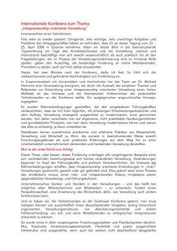 Internationale Konferenz zum Thema - Intrapreneurship-in-der ...