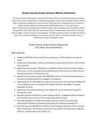 2012 Major Accomplishments - Greene County