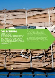 delivering on our responsibility to reduce our environmental ... - Bunzl
