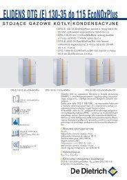 Karta techniczna dla DTG (E) 130-35 do 115 - De Dietrich