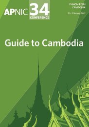 Guide to Cambodia - APNIC Conferences