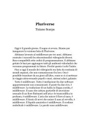 Pluriverse, un racconto di Tiziano Scarpa - Il primo amore