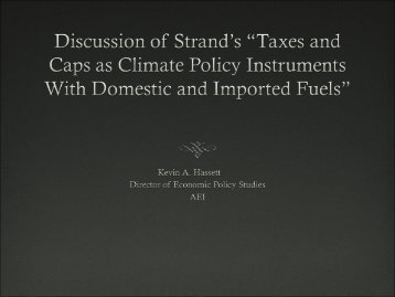 "Discussion of ""Taxes and Caps as Climate Policy Instruments With ..."