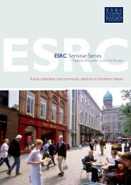 Active citizenship and community relations in Northern Ireland