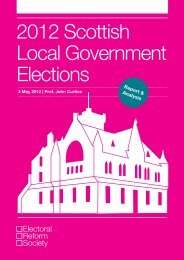 2012 Scottish Local Government Elections - Electoral Reform Society