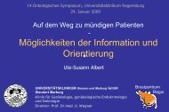 Albert - Patienteninformation - Tumorzentrum Regensburg eV