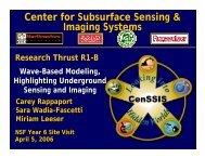 Wave-Based Modeling Highlighting Underground Sensing and ...