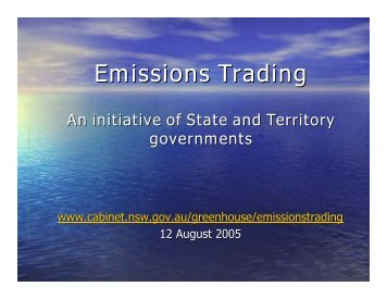 Emissions Trading - Centre for Energy and Environmental Markets