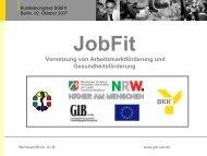 JobFit Regional (November 2004 – Juni 2006) - Bundeskongress-sgb2.de