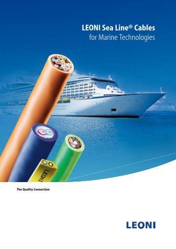 LEONI Sea Line® Cables for Marine Technologies - Megat S.A.