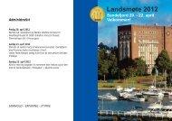 Program for landsmøtet 2012 - Nvio