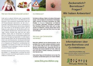 Informationen über Borreliose & Co-Infektionen - OnLyme Aktion