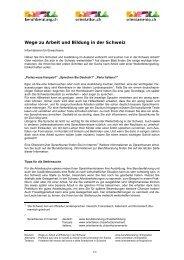 Wege zu Arbeit und Bildung in der Schweiz - Berufsberatung.ch